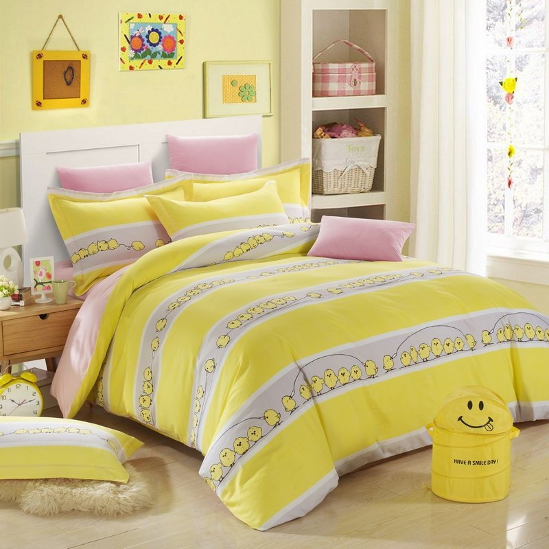 Grey Bedroom Boys Zebra Print Bedroom Ideas For Adults Bedroom Ceiling Soffit Bedroom Decor Gray: Lemon Yellow White And Grey Cute Farm Animal Chicken And