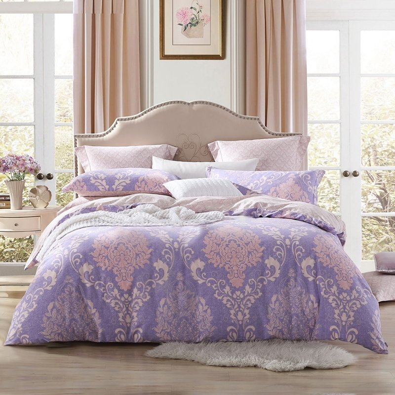 Gray Lavender and Pale Pink Victorian Gothic Pattern ...