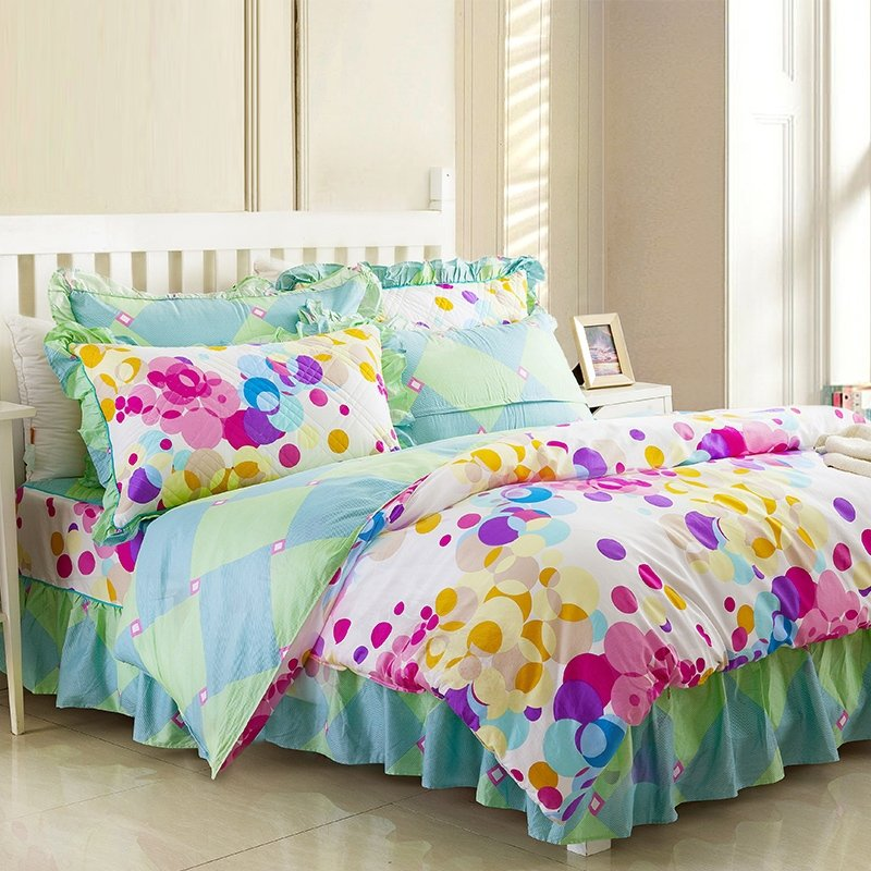 Hot Pink Purple White Orange Yellow And, Pink Purple Bedspread Queen