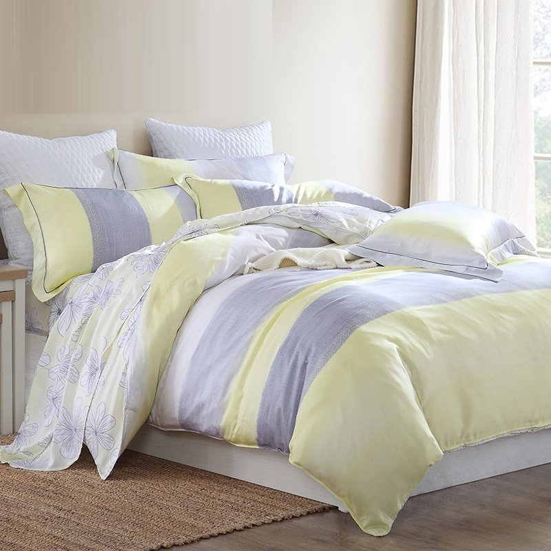 Contemporary Striped Simply Modern Chic Soft Full, Queen ...