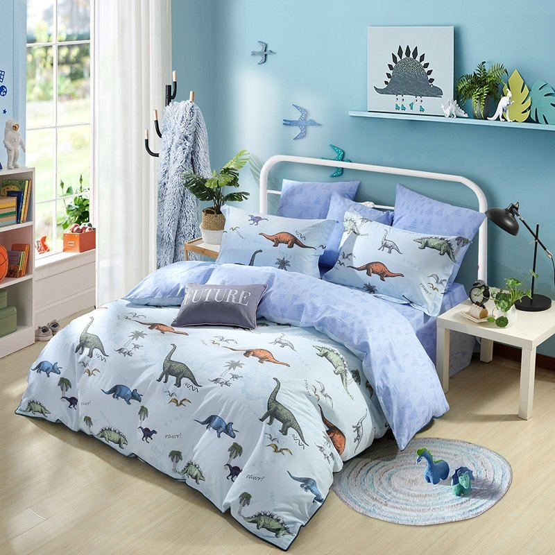 View Grey Dinosaur Toddler Bedding Background