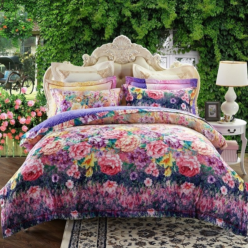 French Country Chic Purple Teal Pink Red Yellow And Dark