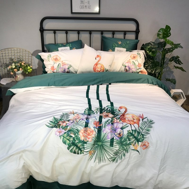 Teal Green Beige Purple And C, Fun Queen Size Bedding