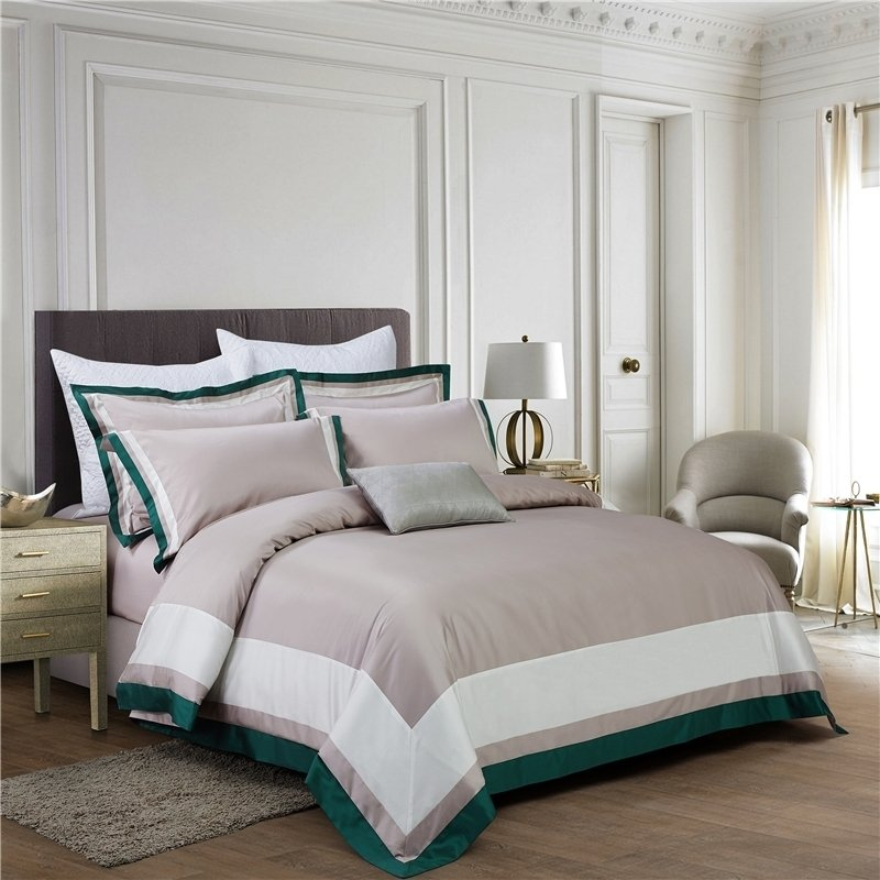 Simply Shabby Chic Khaki White and Teal Green Luxury Hotel Style
