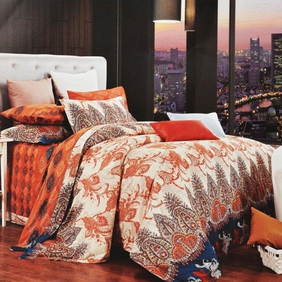 Brown Beige And Orange Paisley Pop Vintage Boho Style
